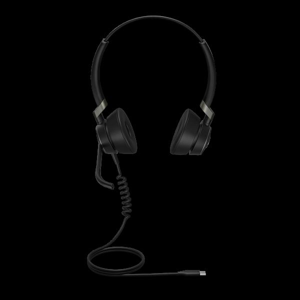 Jabra Engage 50 USB-C Stereo Headset mit Super-Breitband-Audio und 3-Mikrofon-Technologie für PC Sof