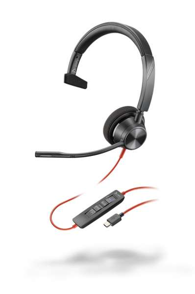 Poly Blackwire 3315-M USB-C & 3,5mm Klinke Mono NC Headset mit CallControl für Microsoft