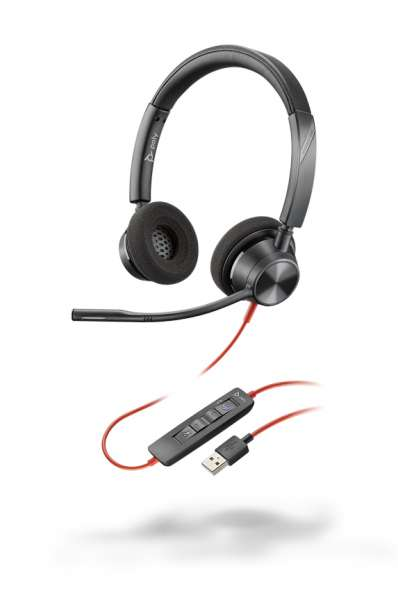 Poly Blackwire 3320-M USB-A Duo NC Headset mit CallControl für Microsoft