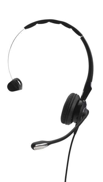 Jabra BIZ 2400 II Mono 3in1 UNC Headset mit Überkopfbügel, Nackenbügel, Ohrhaken
