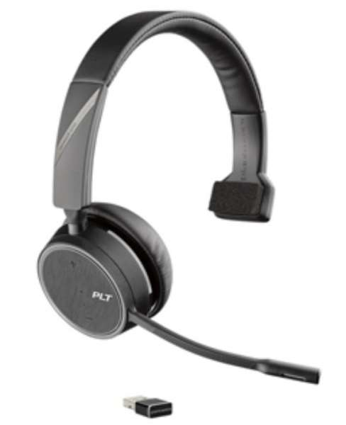 Poly Voyager 4210 UC-M Station USB-A Mono Bluetooth NC Headset inkl. Ladestation & BT600 USB Dongle