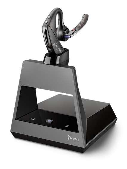 Poly Voyager 5200 Office MS Teams USB-C 2-Way Base Ohrbügel Bluetooth NC Headset für Festnetz, PC So
