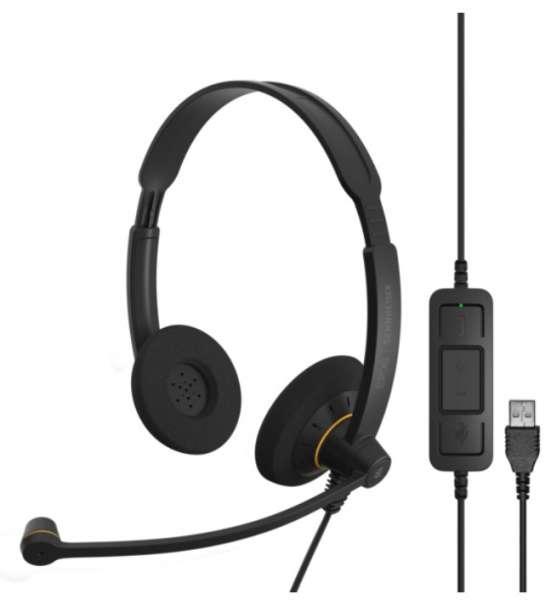 EPOS | SENNHEISER IMPACT SC 60 USB ML/UC Duo NC Headset mit CallControl für UC/Microsoft