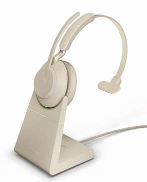 Jabra Evolve2 65 Link380c UC Mono Stand Beige Bluetooth NC Headset inkl. Deskstand & Link 380 USB-C