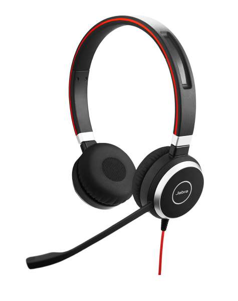 Jabra Evolve 40 MS Duo USB-C & 3,5mm Klinke NC Headset mit Busylight & CallControl für Microsoft