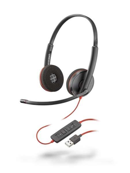 Poly Blackwire C3220 USB-A Duo NC Headset mit CallControl für UC/Microsoft