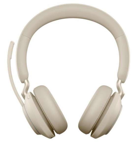 Jabra Evolve2 65 Link380c MS Stereo Beige Bluetooth NC Headset inkl. Link 380 USB-C MS Teams BT Dong