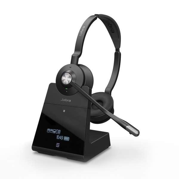 Jabra Engage 75 Stereo DECT NC Headset für Festnetz, PC Softphone und Mobiltelefon