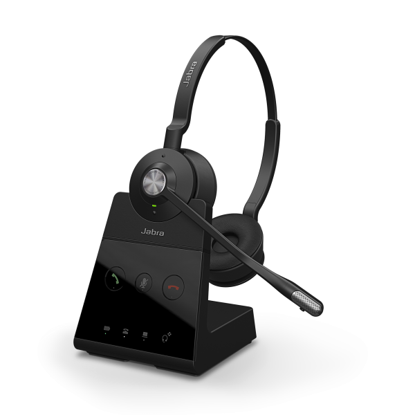 Jabra Engage 65 Stereo DECT NC Headset für Festnetz und PC Softphone