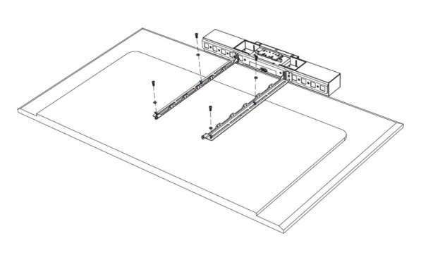 Poly Wandmontage Display Mounting Kit für Poly STUDIO