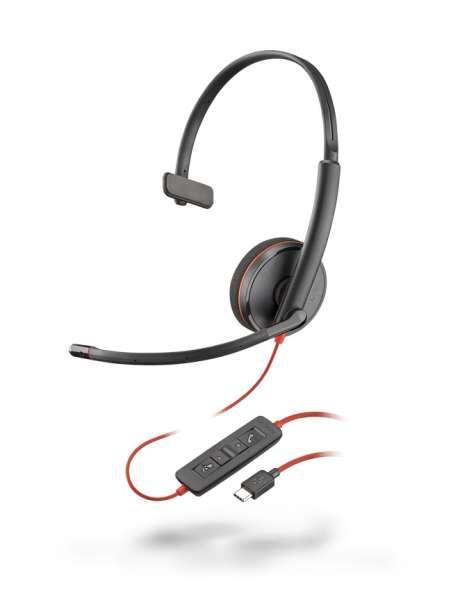 Poly Blackwire C3210 USB-C Mono NC Headset mit CallControl für UC/Microsoft