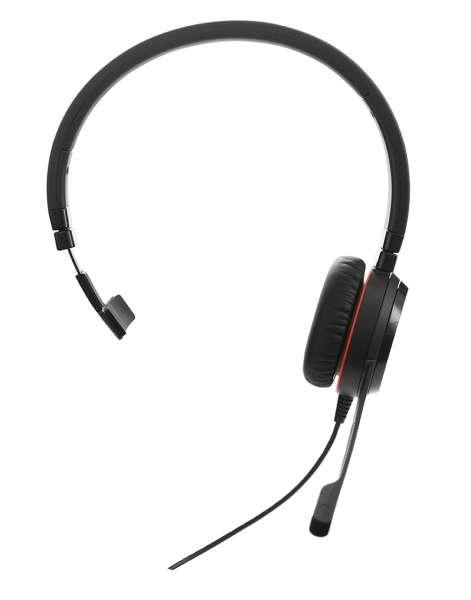 Jabra Evolve 30 II MS Mono USB & 3,5mm Klinke NC Headset mit CallControl für Microsoft