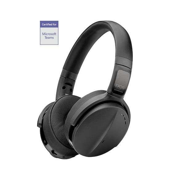 1000207 ADAPT 560 On-ear Bluetooth® Headset mit BTD 800 USB-Dongle und Etui. Optimiert für UC und Zertifiziert für Microsoft Teams*
