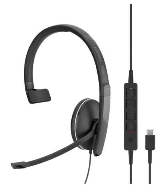EPOS | SENNHEISER ADAPT SC 135 USB-C & 3,5mm Klinke ML/UC Mono NC Headset mit CallControl für UC/Mic