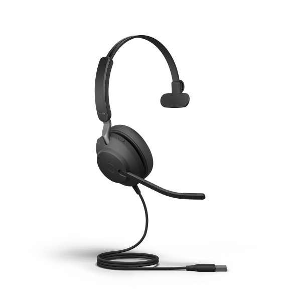 Jabra Evolve2 40 UC Mono USB-C NC Headset mit PNC, Busylight & CallControl
