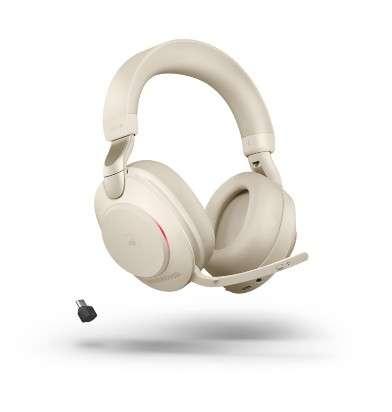 Jabra Evolve2 85 Link380c MS Stereo Stand Beige ANC Bluetooth NC Headset inkl. Deskstand & Link 380