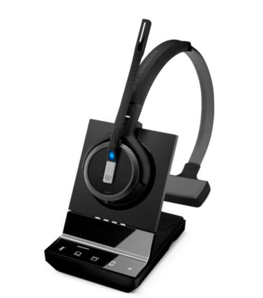 EPOS | SENNHEISER IMPACT SDW 5035 Mono DECT UNC Headset für Festnetz und PC Softphone (optional Mobi